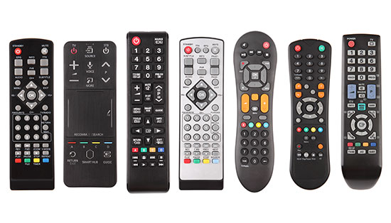 Smart home systems remote controls to show problem that multiple remotes are stressful.